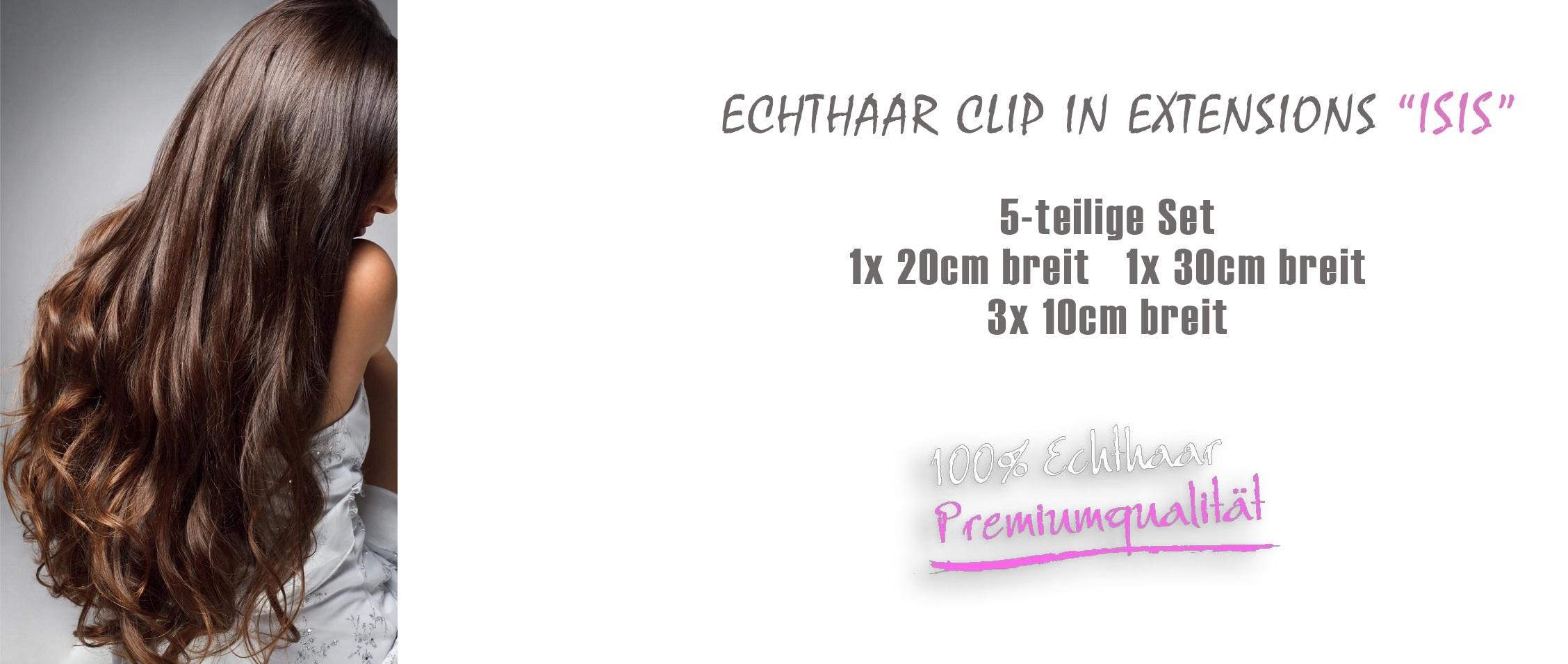 Clip in extensions echthaar 30 cm lang