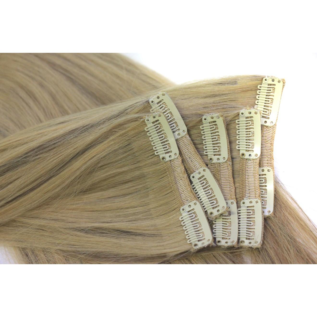 Brautfrisur clip extensions