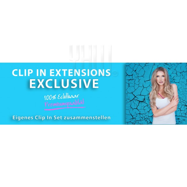 Echthaar Clip in Extensions Set EXCLUSIVE 200 Gramm