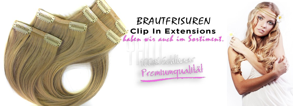BRAUTFRISUREN CLIP IN EXTENSIONS